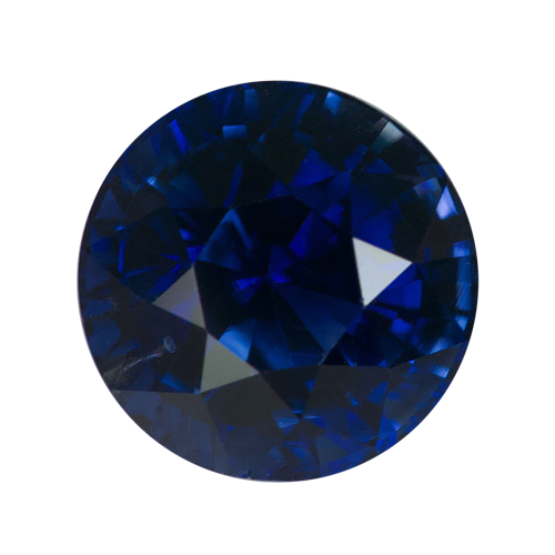 2.48 ct Round Blue Sapphire Certified Unheated