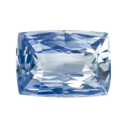 2.11 ct Sky Blue Cushion Natural Sapphire Unheated Certified