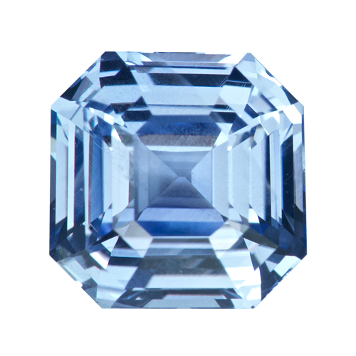 1.50 ct Square Sky Blue Sapphire Natural Unheated