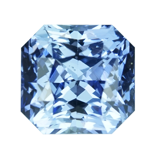 1.59 ct Blue Sapphire Radiant Cut Unheated Ceylon
