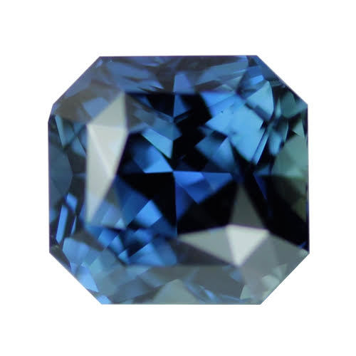 2.89 ct Greenish Blue Square Radiant Cut Natural Unheated Sapphire
