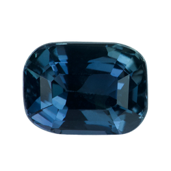 1.56 ct CushionGreen Sapphire Certified Unheated