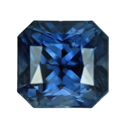 2.48 ct Steel Blue Square Radiant Cut Natural Unheated Sapphire