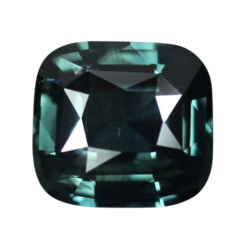 2.61 ct Blue Green Cushion Sapphire Unheated