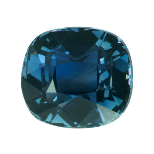 2.19 ct Radiant Cut Bluish Green Sapphire Certified Unheated