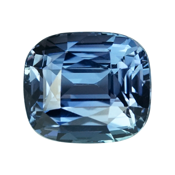 2.07 ct Teal Blue Sapphire Cushion Cut Unheated Madagascar
