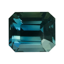 3.18 ct Emerald Cut Green Sapphire Certified Unheated