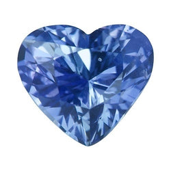 1.66 ct Heart Light Vivid Ceylon Blue Sapphire Certified Unheated