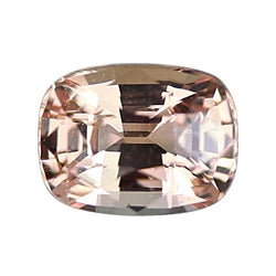 1.55 ct Cushion Peach Sapphire Certified Unheated