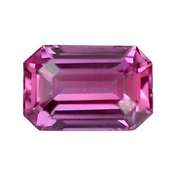 1.19 ct Vivid Pink Emerald Cut Natural Unheated Sapphire