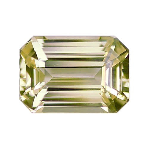 1.67 ct Light Yellow	Emerald Cut Natural Unheated Sapphire