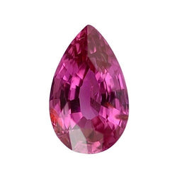 1.02 ct Vivid Pink Pear Cut Natural Unheated Sapphire
