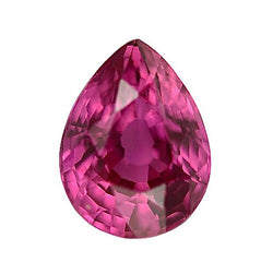 1.00 ct Vivid Hot Pink Pear Cut Natural Unheated Sapphire