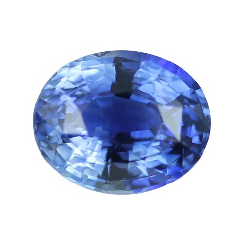 2.04 ct Certified Unheated Oval Blue Sapphire