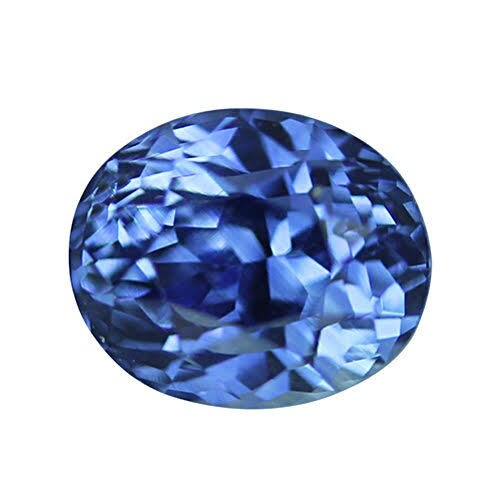 1.56 ct Vivid Royal Blue Oval Sapphire Certified Unheated