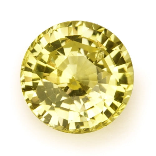 1.17 ct Yellow Round Cut Natural Unheated Sapphire