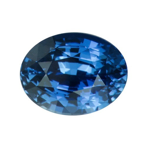 1.73 ct Oval Blue Sapphire Certified Unheated