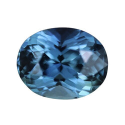 1.53 ct Oval Blue Green Sapphire Certified Unheated