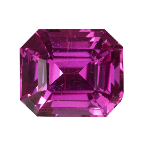 1.62 ct Hot Pink Emerald Cut Sapphire Unheated