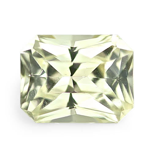 0.72	ct Yellow Radiant Cut Natural Sapphire