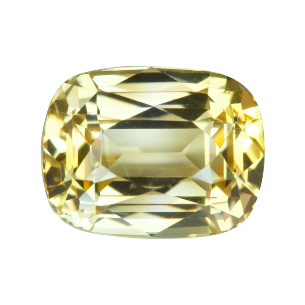 2.60 ct Yellow Sapphire Cushion Unheated Ceylon