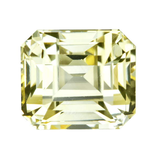 2.64 ct Yellow Sapphire Emerald Cut Unheated Ceylon