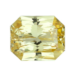 4.01 ct Radiant Cut Yellow Sapphire Certified Unheated