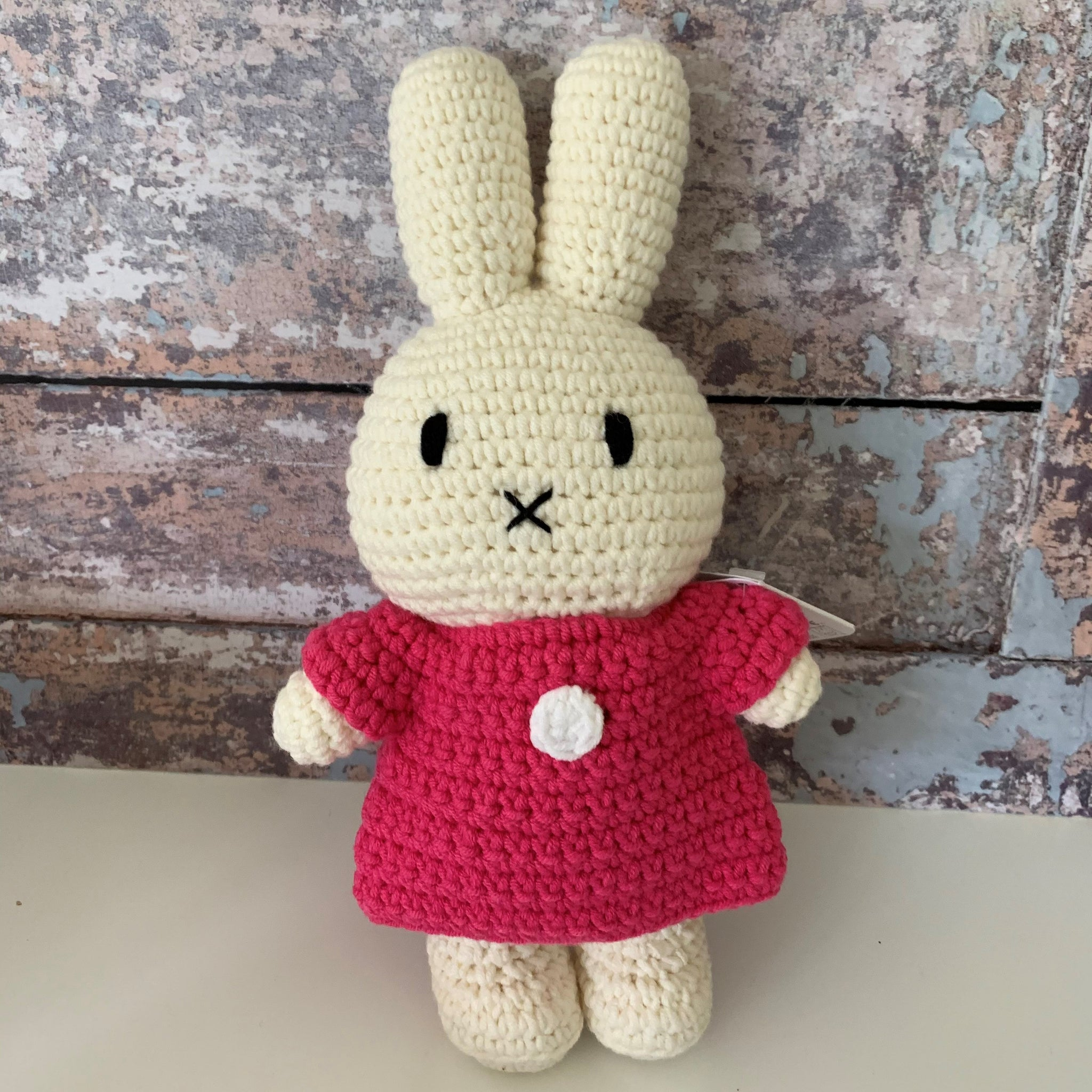 Miffy with dark pink dress