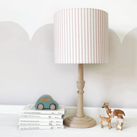 Pink and white striped Lampshade