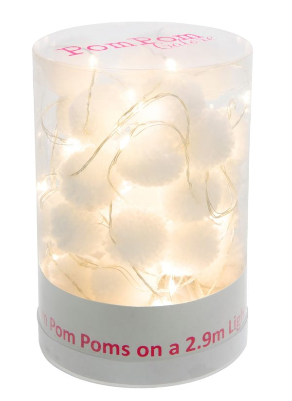 White Pom Pom Lights