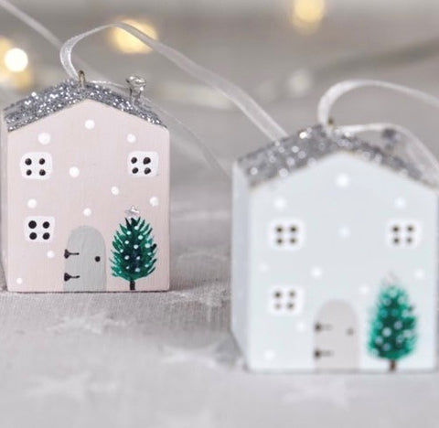 Christmas hand painted house