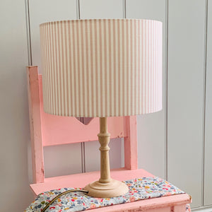 Pink and White Stripe Lampshade