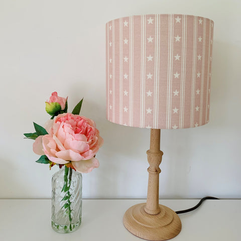 Pink stars and stripes Lampshade