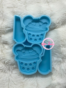 Cupcake Ears Straw Topper Mold