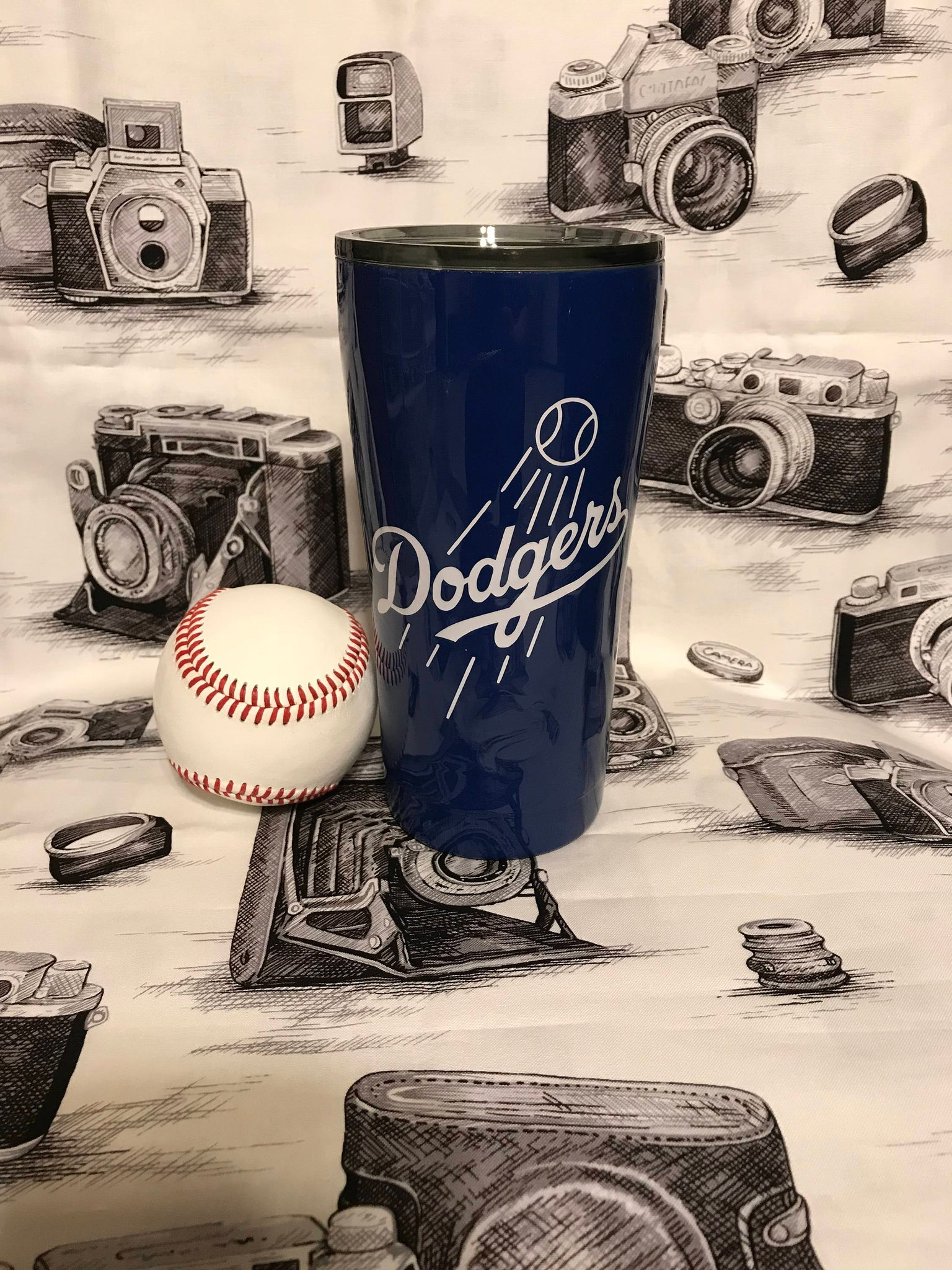 Team Dodgers Hot/Cold Tumbler, Travel Mug, Ombre