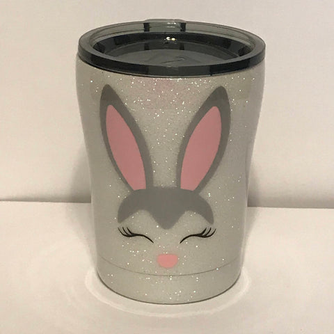 Kids Cup, Glitter Cup, Kids Tumbler, Easter, Easter Cup, Bunny Cup, Easter Bunny, Rabbit Cup, Travel Mug, Glitter Mug, 10oz. Cup, Tumbler
