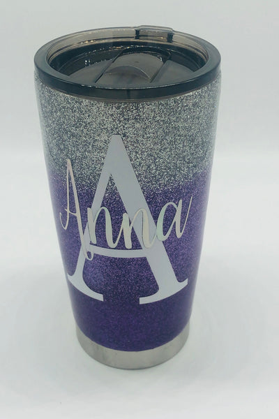 Glitter Cup, Personalized Cup, Tumbler, Glitter, Purple, Name, Name Cup, Purple Glitter Cup, Glitter Tumbler, Personalized Tumbler