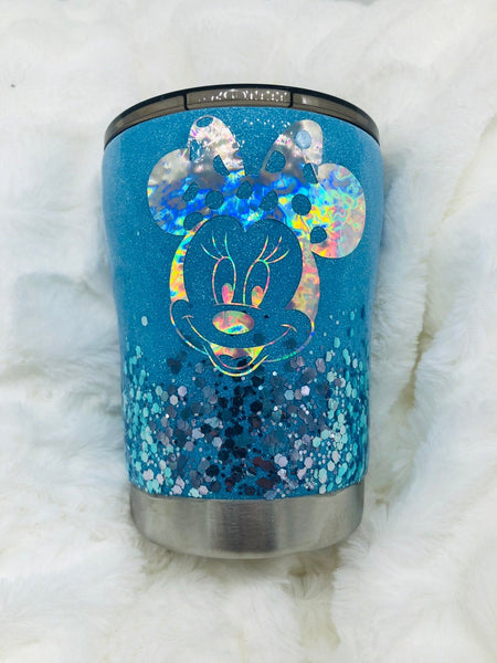 Minnie Mouse Cup, Minnie Mouse, Tumbler, Glitter Cup, Minnie, Mickey Mouse, Minnie Mouse Tumbler, Kids Cup, Birthday Cup, Kids, Blue Cup