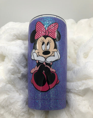 Minnie Mouse, Minnie, Minnie Mouse Cup, Kids Cup, Birthday , Disney , Disney Cup, Mickey Mouse, Mickey, Glitter , Glitter Cup, Coffee Cup