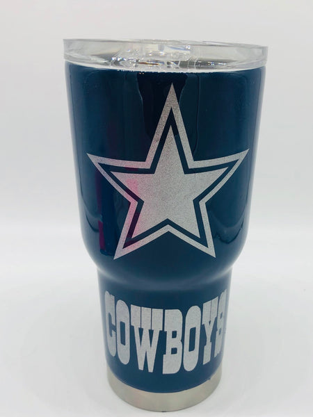 Cowboys, Tumbler, Cowboys Cup, Cowboys Tumbler, Glitter Tumbler, Glitter, Gift, Birthday, Father's Day, Sports, Sports Cup, Football