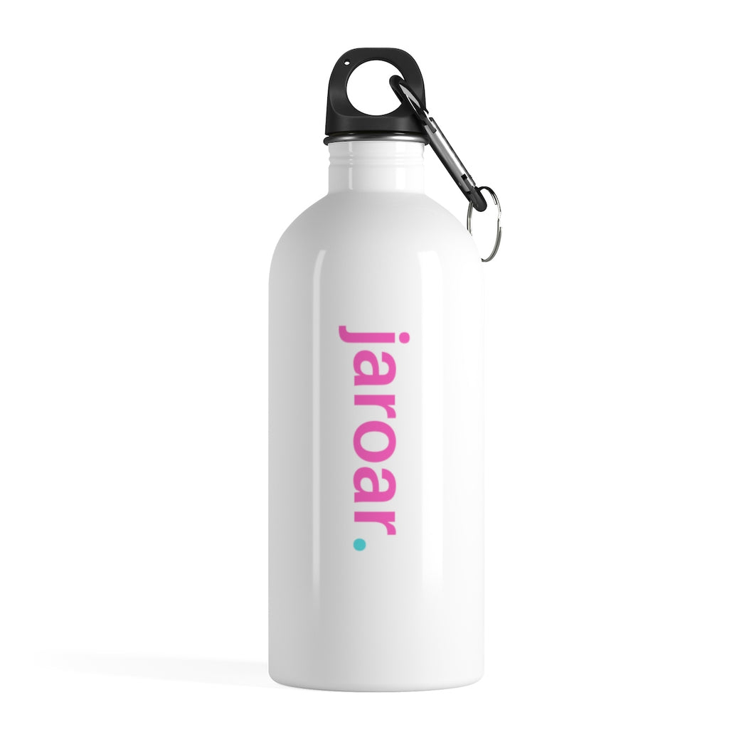 Jaroar Stainless Steel Water Bottle with Pink Text