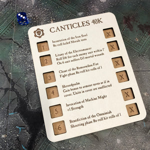 WH AM Canticles Dice Dashboard Set