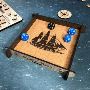 Black Seas Themed Dice Tray