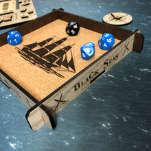 Load image into Gallery viewer, Black Seas Themed Dice Tray