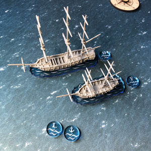 Black Seas Acrylic Base/Token Set