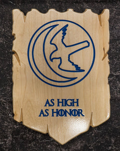 Game of Thrones House Arryn Carved Plaque