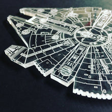 Load image into Gallery viewer, Millennium Falcon Clear Coaster Set