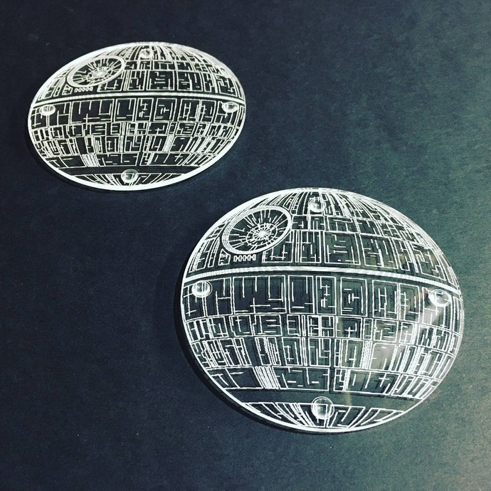 Death Star Inspired Coaster Set