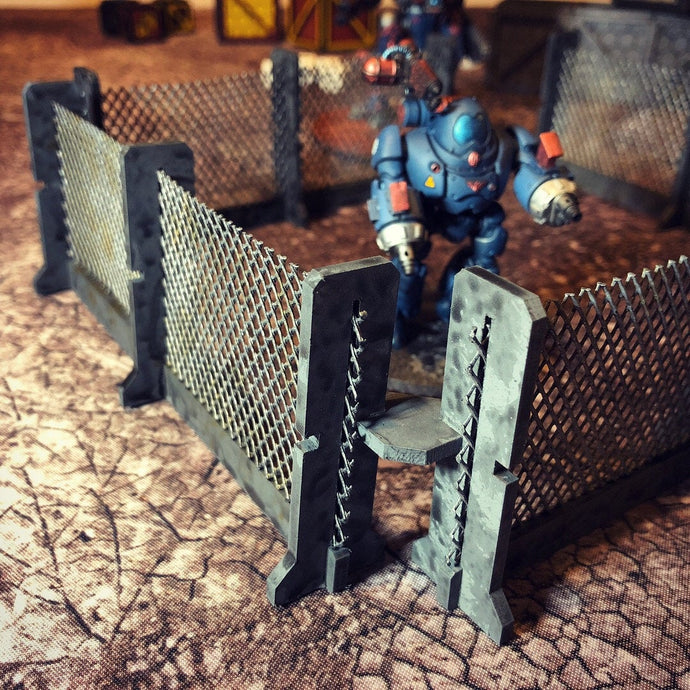 Tabletop Wargaming  Miniature Terrain/Scenery - Chain Link Fencing