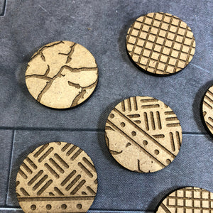 Industrial Themed Miniature Model Textured MDF/Hardboard Bases